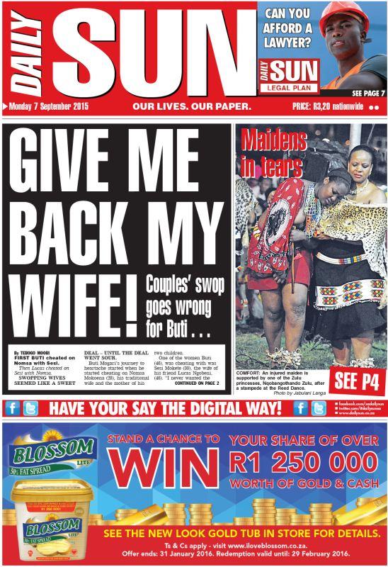 Tokoloshe tracker in my bum! - Daily Sun - NEWS