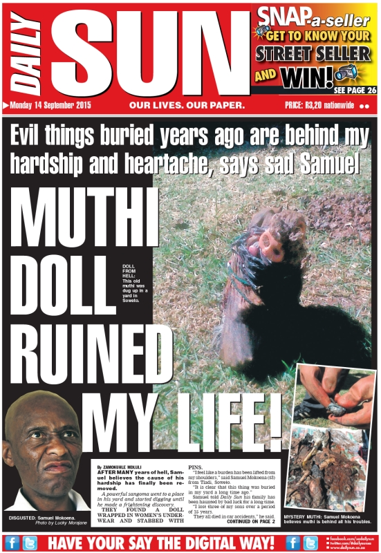 """Muthi doll ruined my life!"""" - Daily Sun - iSERVICE 