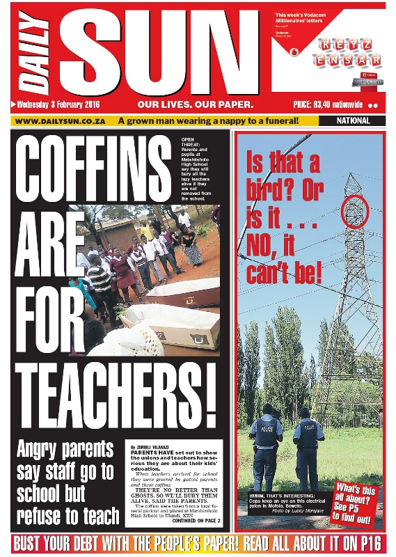 Coffins are for teachers!