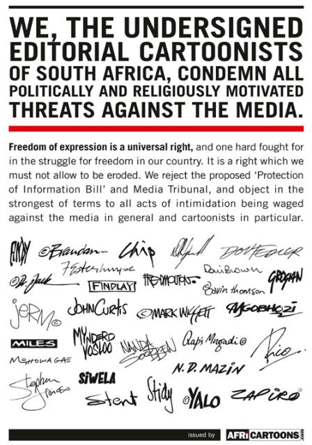 Cartoonist Protest