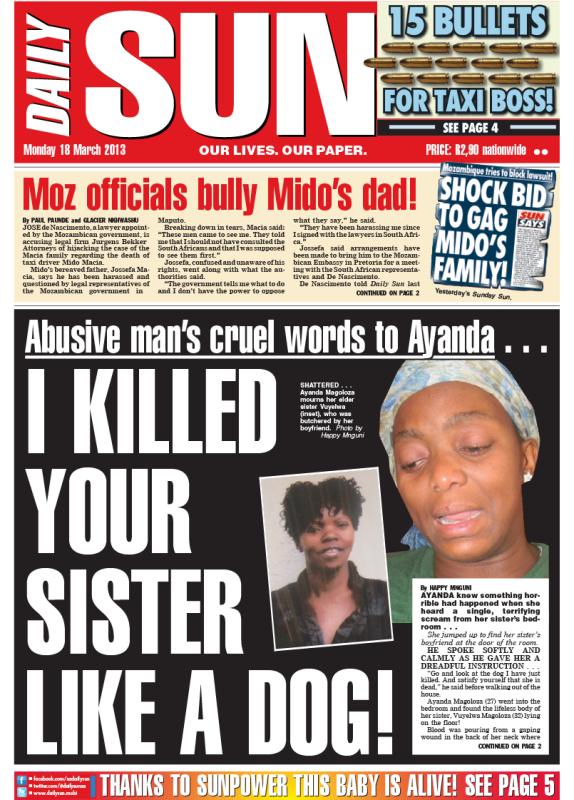 Sunday sun newspaper south africa