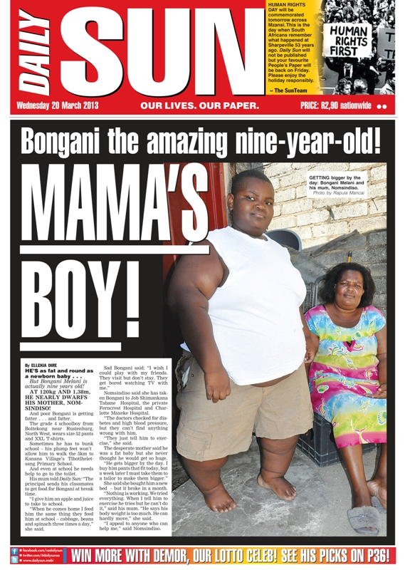 Poor mum`s heartache! - Daily Sun - NEWS & ANALYSIS