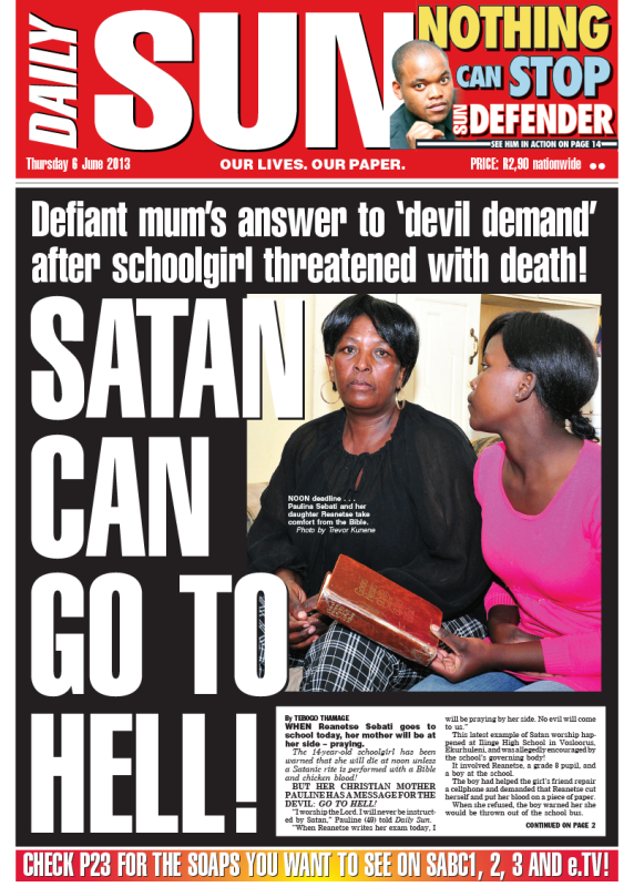 Tears for my abuser! - Daily Sun - iSERVICE | Politicsweb