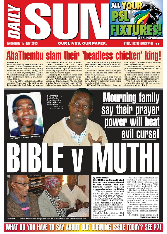 Bible v Muthi: Mourning family say their prayer power will