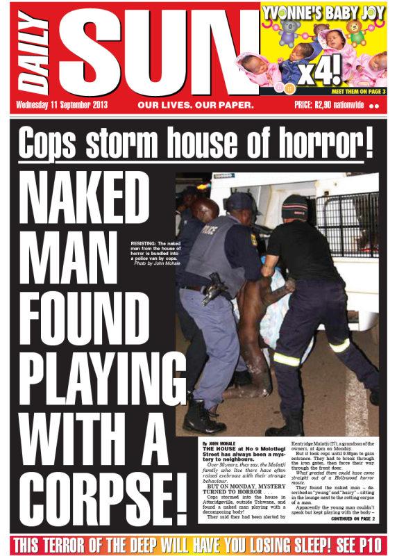 TODAYS FRONT PAGE!