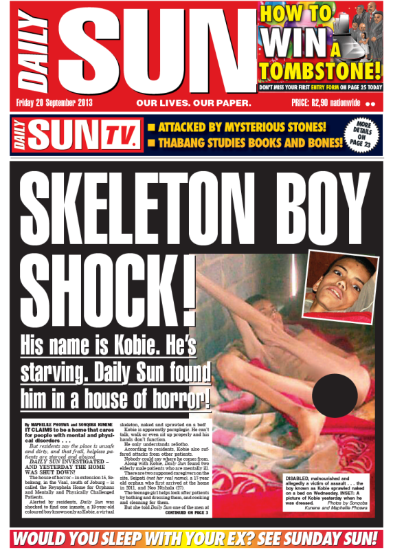 Satan can go to hell! - Daily Sun - iSERVICE | Politicsweb