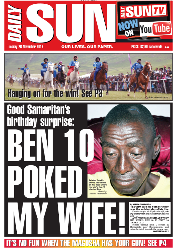 Save my Ben 10 son! - Daily Sun - iSERVICE | Politicsweb